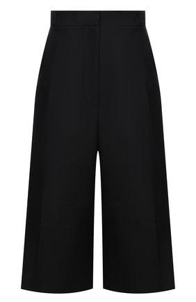 Женские шорты-бермуды LOW CLASSIC черного цвета, арт. L0W21FW_PT13BK   Фото 1 (Длина Ж (юбки, платья, шорты): Миди; Материал внешний: Синтетический материал; Стили: Классический; Кросс-КТ: Широкие; Женское Кросс-КТ: Шорты-одежда)