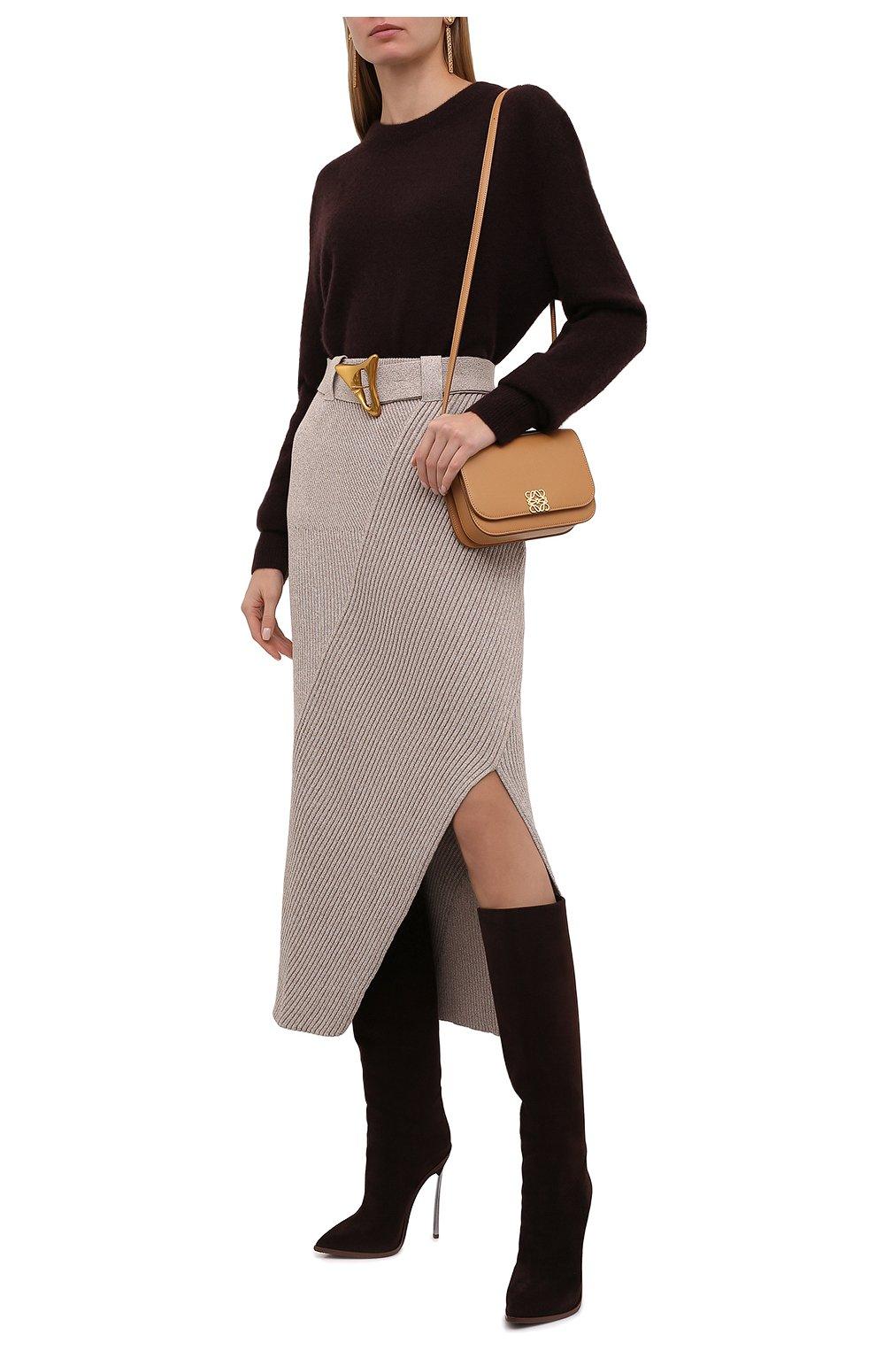 Женская хлопковая юбка AERON бежевого цвета, арт. SK135_376 | Фото 2 (Кросс-КТ: Трикотаж; Женское Кросс-КТ: Юбка-одежда; Материал внешний: Хлопок; Длина Ж (юбки, платья, шорты): Макси; Стили: Кэжуэл)