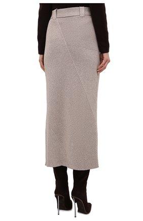 Женская хлопковая юбка AERON бежевого цвета, арт. SK135_376 | Фото 4 (Кросс-КТ: Трикотаж; Женское Кросс-КТ: Юбка-одежда; Материал внешний: Хлопок; Длина Ж (юбки, платья, шорты): Макси; Стили: Кэжуэл)