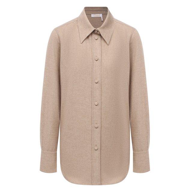 Рубашка из шерсти и кашемира Chloé