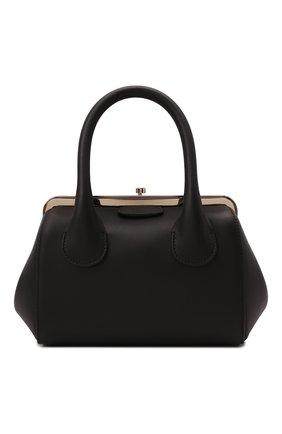 Женская сумка joyce small CHLOÉ черного цвета, арт. CHC21WS460F46   Фото 1 (Материал: Натуральная кожа; Ремень/цепочка: На ремешке; Размер: small; Сумки-технические: Сумки top-handle)
