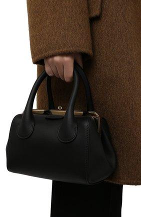 Женская сумка joyce small CHLOÉ черного цвета, арт. CHC21WS460F46   Фото 2 (Материал: Натуральная кожа; Ремень/цепочка: На ремешке; Размер: small; Сумки-технические: Сумки top-handle)