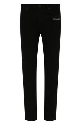 Мужские джинсы OFF-WHITE черного цвета, арт. 0MYA126F21DEN001   Фото 1 (Длина (брюки, джинсы): Стандартные; Материал внешний: Хлопок; Кросс-КТ: Деним; Стили: Гранж; Силуэт М (брюки): Прямые)