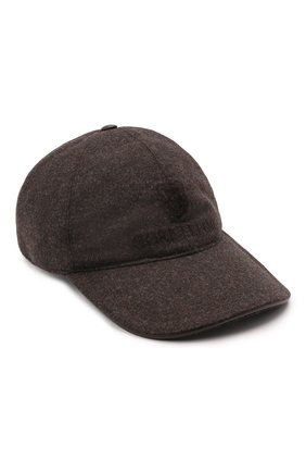 Мужской шерстяная бейсболка CORNELIANI коричневого цвета, арт. 880332-1829207/00 | Фото 1 (Материал: Шерсть)