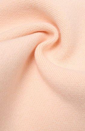 Детский хлопковый шарф CHLOÉ светло-розового цвета, арт. C11194   Фото 2 (Материал: Хлопок, Текстиль)