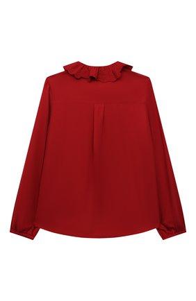Детское блузка из вискозы CHLOÉ красного цвета, арт. C15D02   Фото 2 (Материал внешний: Вискоза; Рукава: Длинные)