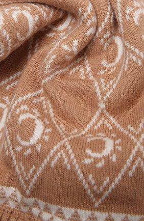 Детский хлопковый шарф CHLOÉ бежевого цвета, арт. C11192   Фото 2 (Материал: Хлопок, Текстиль)