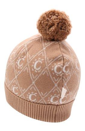 Детского хлопковая шапка CHLOÉ бежевого цвета, арт. C11193 | Фото 2 (Материал: Хлопок, Текстиль)