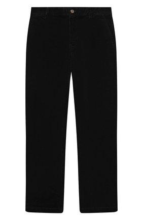 Детские хлопковые брюки POLO RALPH LAUREN черного цвета, арт. 323851594 | Фото 1 (Материал внешний: Хлопок)