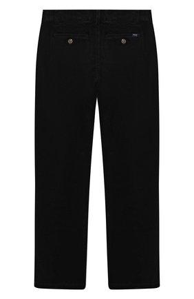 Детские хлопковые брюки POLO RALPH LAUREN черного цвета, арт. 323851594 | Фото 2 (Материал внешний: Хлопок)