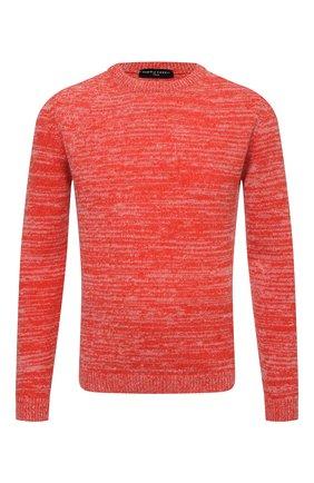 Мужской свитер DANIELE FIESOLI красного цвета, арт. DF 9040   Фото 1 (Материал внешний: Шерсть; Рукава: Длинные; Длина (для топов): Стандартные; Мужское Кросс-КТ: Свитер-одежда; Принт: Без принта; Стили: Кэжуэл)