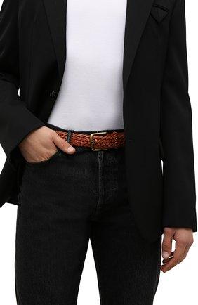 Мужской кожаный ремень RALPH LAUREN коричневого цвета, арт. 404168232 | Фото 2 (Случай: Повседневный)