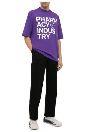 Мужская хлопковая футболка PHARMACY INDUSTRY фиолетового цвета, арт. PHMSTMM261   Фото 2 (Материал внешний: Хлопок; Принт: С принтом; Длина (для топов): Стандартные; Рукава: Короткие; Стили: Спорт-шик)