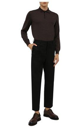 Мужские кожаные дерби SANTONI темно-коричневого цвета, арт. MCCG17872JW2IMCGT50   Фото 2 (Материал внутренний: Натуральная кожа; Стили: Классический; Мужское Кросс-КТ: Броги-обувь)