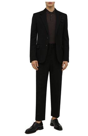Мужские кожаные дерби SANTONI черного цвета, арт. MCLG17715JH2BPWCN01   Фото 2 (Материал внутренний: Натуральная кожа; Стили: Классический)