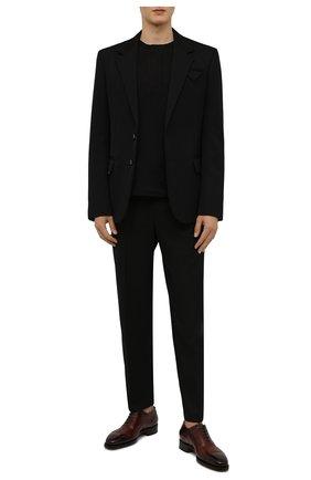 Мужские кожаные оксфорды SANTONI бордового цвета, арт. MLWG17625DD2HRNRQ52   Фото 2 (Материал внутренний: Натуральная кожа; Стили: Классический; Мужское Кросс-КТ: Броги-обувь)