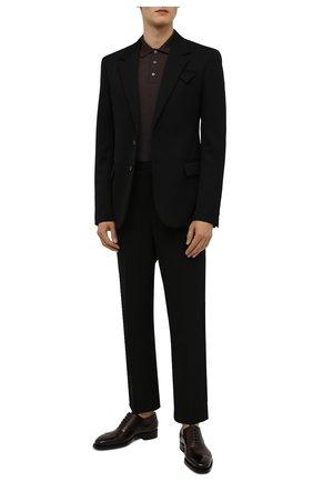 Мужские кожаные оксфорды SANTONI темно-коричневого цвета, арт. MLWG17628DD2HRNRT72   Фото 2 (Материал внутренний: Натуральная кожа; Стили: Классический)