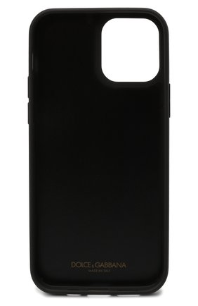 Кожаный чехол для iphone 12/12 pro DOLCE & GABBANA черно-белого цвета, арт. BP2905/AQ276 | Фото 2