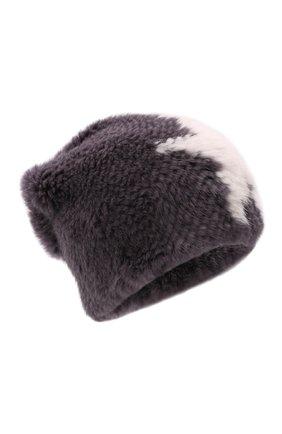 Женская шапка из меха норки KUSSENKOVV серого цвета, арт. 050151708206   Фото 1 (Материал: Натуральный мех)