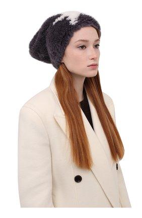 Женская шапка из меха норки KUSSENKOVV серого цвета, арт. 050151708206   Фото 2 (Материал: Натуральный мех)