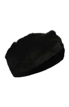 Женская повязка на голову из меха норки KUSSENKOVV черного цвета, арт. 162800002018   Фото 1 (Материал: Натуральный мех)