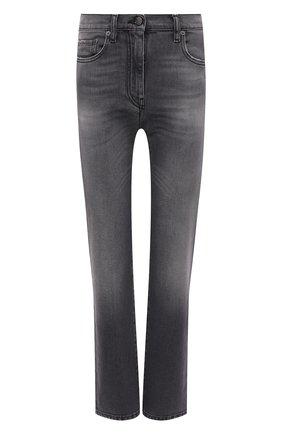 Женские джинсы PALM ANGELS серого цвета, арт. PWYA013F21DEN0021010   Фото 1 (Материал внешний: Хлопок; Длина (брюки, джинсы): Стандартные; Стили: Кэжуэл; Кросс-КТ: Деним; Силуэт Ж (брюки и джинсы): Слим)