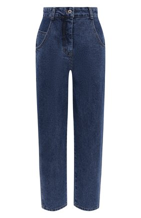 Женские джинсы LOW CLASSIC тёмно-голубого цвета, арт. L0W21FW_JN03DE   Фото 1 (Материал внешний: Хлопок; Длина (брюки, джинсы): Стандартные; Стили: Кэжуэл; Кросс-КТ: Деним; Силуэт Ж (брюки и джинсы): Слим)