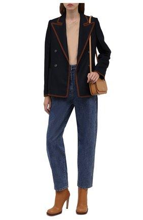 Женские джинсы LOW CLASSIC тёмно-голубого цвета, арт. L0W21FW_JN03DE   Фото 2 (Материал внешний: Хлопок; Длина (брюки, джинсы): Стандартные; Стили: Кэжуэл; Кросс-КТ: Деним; Силуэт Ж (брюки и джинсы): Слим)
