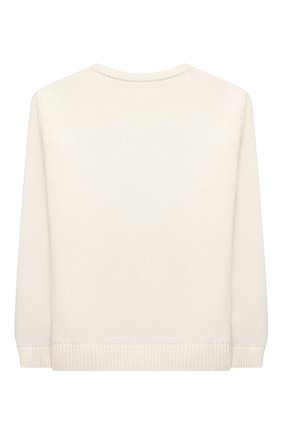 Детский хлопковый пуловер MOSCHINO белого цвета, арт. HMW00J/LHE09/10A-14A   Фото 2 (Материал внешний: Синтетический материал, Хлопок; Рукава: Длинные; Девочки Кросс-КТ: Пуловер-одежда)