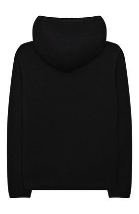 Детский худи из хлопка и шерсти MOSCHINO черного цвета, арт. HMW00K/LHE11/10A-14A   Фото 2 (Материал внешний: Хлопок; Рукава: Длинные; Мальчики Кросс-КТ: Толстовка-одежда)
