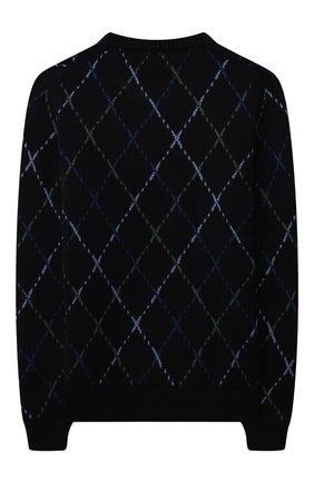 Детский кашемировый пуловер LORO PIANA синего цвета, арт. FAL7505 | Фото 2 (Материал внешний: Кашемир, Шерсть; Девочки Кросс-КТ: Пуловер-одежда; Рукава: Длинные)