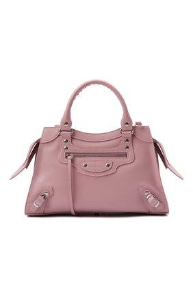 Женская сумка neo classic city s BALENCIAGA светло-розового цвета, арт. 678629/15Y4Y | Фото 1 (Размер: medium; Ремень/цепочка: На ремешке; Материал: Натуральная кожа; Сумки-технические: Сумки top-handle)