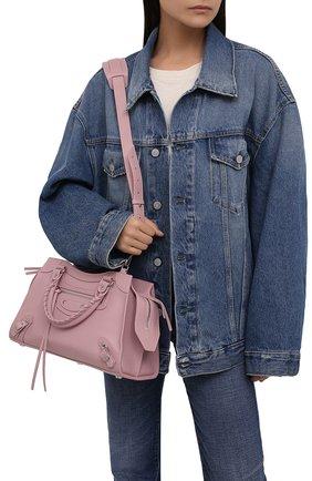 Женская сумка neo classic city s BALENCIAGA светло-розового цвета, арт. 678629/15Y4Y | Фото 2 (Размер: medium; Ремень/цепочка: На ремешке; Материал: Натуральная кожа; Сумки-технические: Сумки top-handle)