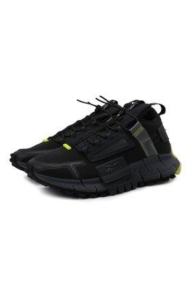 Мужские кроссовки zig kinetica edge REEBOK черного цвета, арт. GY3576   Фото 1 (Материал внешний: Текстиль; Стили: Спорт; Подошва: Массивная)