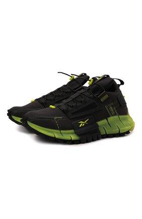 Мужские кроссовки zig kinetica edge REEBOK черного цвета, арт. GY3574   Фото 1 (Подошва: Массивная; Материал внешний: Текстиль; Стили: Спорт)