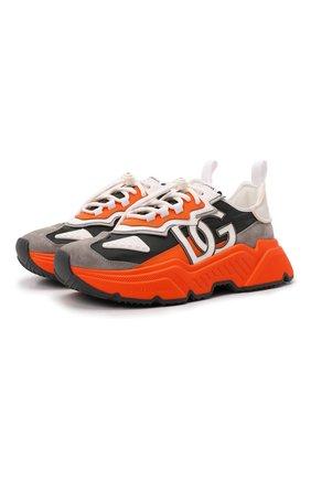 Мужские комбинированные кроссовки daymaster DOLCE & GABBANA разноцветного цвета, арт. CS1941/AQ352   Фото 1 (Подошва: Массивная; Материал внутренний: Натуральная кожа; Материал внешний: Текстиль; Стили: Гранж)
