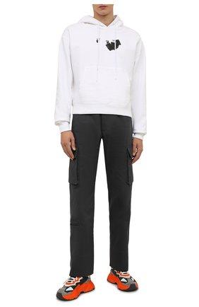 Мужские комбинированные кроссовки daymaster DOLCE & GABBANA разноцветного цвета, арт. CS1941/AQ352   Фото 2 (Подошва: Массивная; Материал внутренний: Натуральная кожа; Материал внешний: Текстиль; Стили: Гранж)