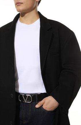 Мужской кожаный ремень VALENTINO черного цвета, арт. WY0T0Q87/SNP | Фото 2 (Случай: Повседневный)
