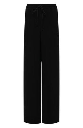 Женские брюки из вискозы BURBERRY черного цвета, арт. 8045246 | Фото 1 (Материал внешний: Вискоза; Длина (брюки, джинсы): Удлиненные; Женское Кросс-КТ: Джоггеры - брюки; Силуэт Ж (брюки и джинсы): Широкие; Стили: Спорт-шик)