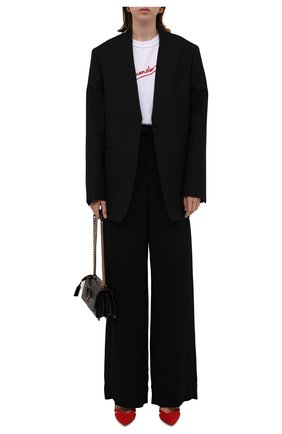 Женские брюки из вискозы BURBERRY черного цвета, арт. 8045246 | Фото 2 (Материал внешний: Вискоза; Длина (брюки, джинсы): Удлиненные; Женское Кросс-КТ: Джоггеры - брюки; Силуэт Ж (брюки и джинсы): Широкие; Стили: Спорт-шик)