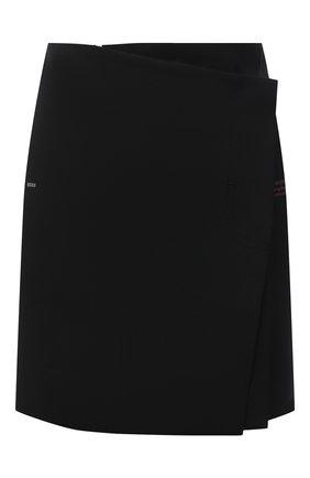 Женская юбка OFF-WHITE черного цвета, арт. 0WCC134F21FAB002 | Фото 1 (Материал внешний: Синтетический материал, Шерсть; Длина Ж (юбки, платья, шорты): Мини; Женское Кросс-КТ: Юбка-одежда; Стили: Кэжуэл)