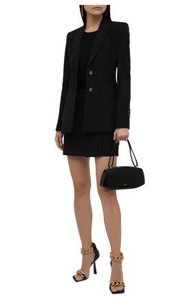 Женская юбка OFF-WHITE черного цвета, арт. 0WCC134F21FAB002 | Фото 2 (Материал внешний: Синтетический материал, Шерсть; Длина Ж (юбки, платья, шорты): Мини; Женское Кросс-КТ: Юбка-одежда; Стили: Кэжуэл)
