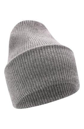 Женская кашемировая шапка LISA YANG серого цвета, арт. 402091   Фото 1 (Материал: Кашемир, Шерсть)
