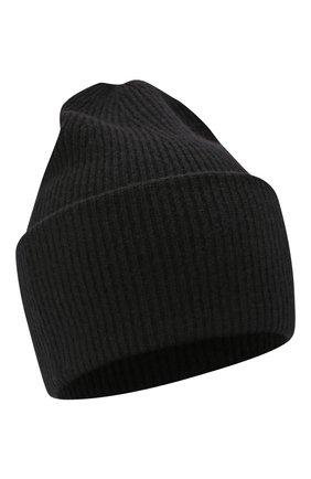 Женская кашемировая шапка LISA YANG черного цвета, арт. 402091   Фото 1 (Материал: Шерсть, Кашемир)