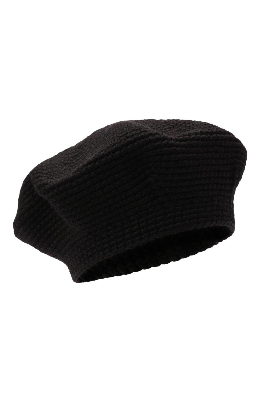 Женский берет LOW CLASSIC черного цвета, арт. L0W21FW_HA02BK | Фото 1 (Материал: Текстиль, Шерсть, Синтетический материал)