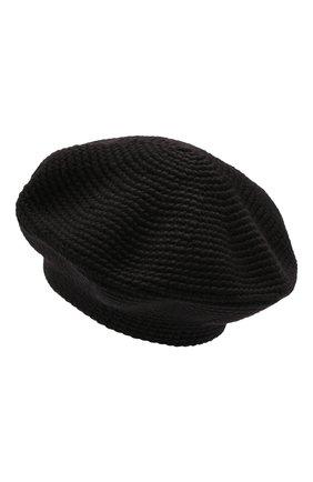 Женский берет LOW CLASSIC черного цвета, арт. L0W21FW_HA02BK | Фото 3 (Материал: Текстиль, Шерсть, Синтетический материал)