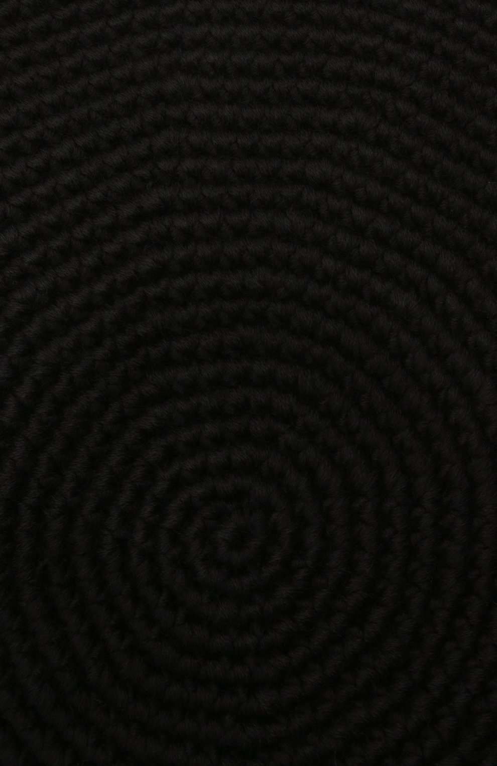 Женский берет LOW CLASSIC черного цвета, арт. L0W21FW_HA02BK | Фото 4 (Материал: Текстиль, Шерсть, Синтетический материал)