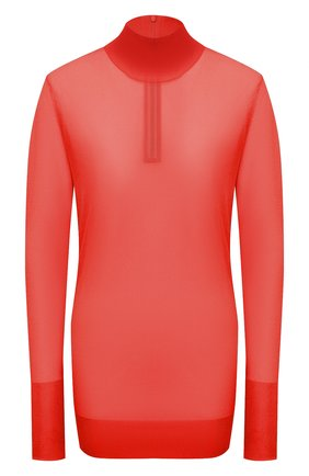 Женская водолазка DOLCE & GABBANA красного цвета, арт. FXE94T/JCMP3 | Фото 1 (Материал внешний: Синтетический материал; Длина (для топов): Удлиненные; Рукава: Длинные; Женское Кросс-КТ: Водолазка-одежда; Стили: Романтичный)