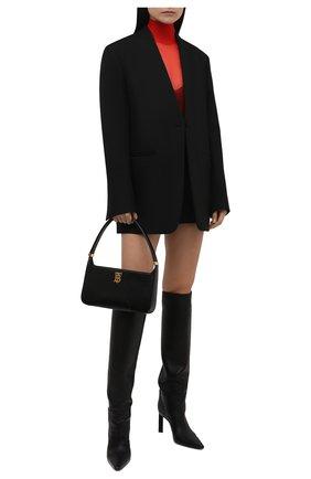 Женская водолазка DOLCE & GABBANA красного цвета, арт. FXE94T/JCMP3 | Фото 2 (Материал внешний: Синтетический материал; Длина (для топов): Удлиненные; Рукава: Длинные; Женское Кросс-КТ: Водолазка-одежда; Стили: Романтичный)