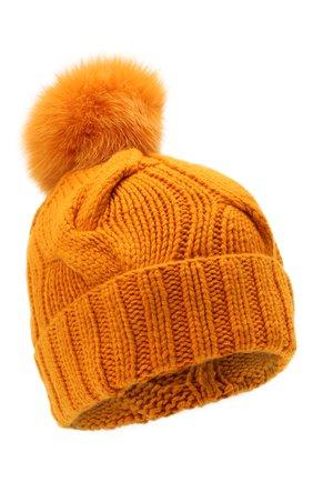 Женская кашемировая шапка courchevel LORO PIANA оранжевого цвета, арт. FAI3621   Фото 1 (Материал: Шерсть, Кашемир)